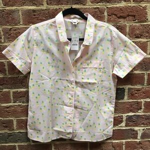 J Crew Pineapple Sleep top size Small NWT